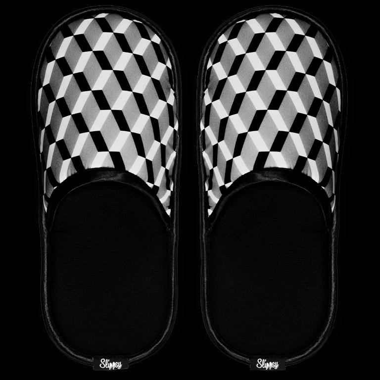 Černo bílé pantofle
