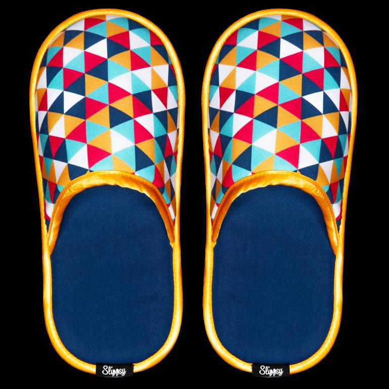 pantofle s trojúhelníky