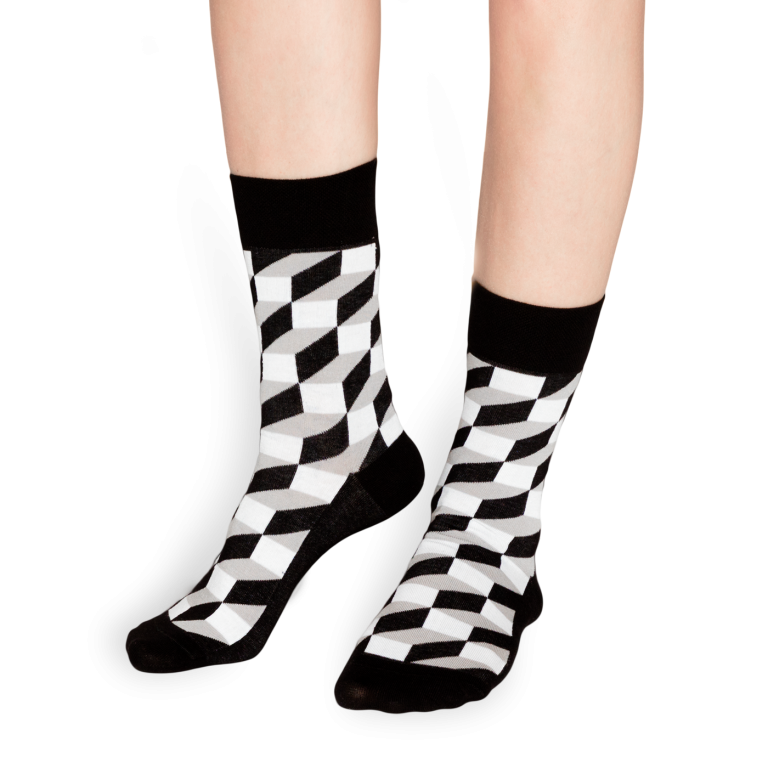 černo bílé ponožky
